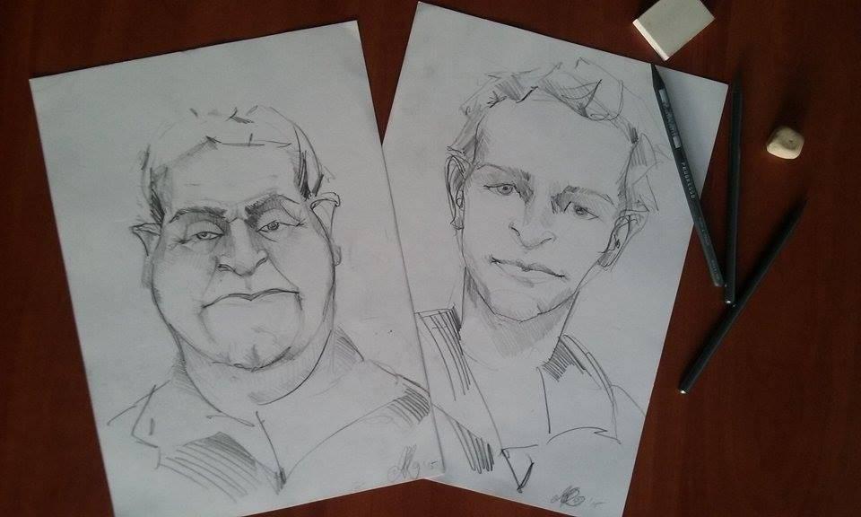Portré és karikatúra rajzolás