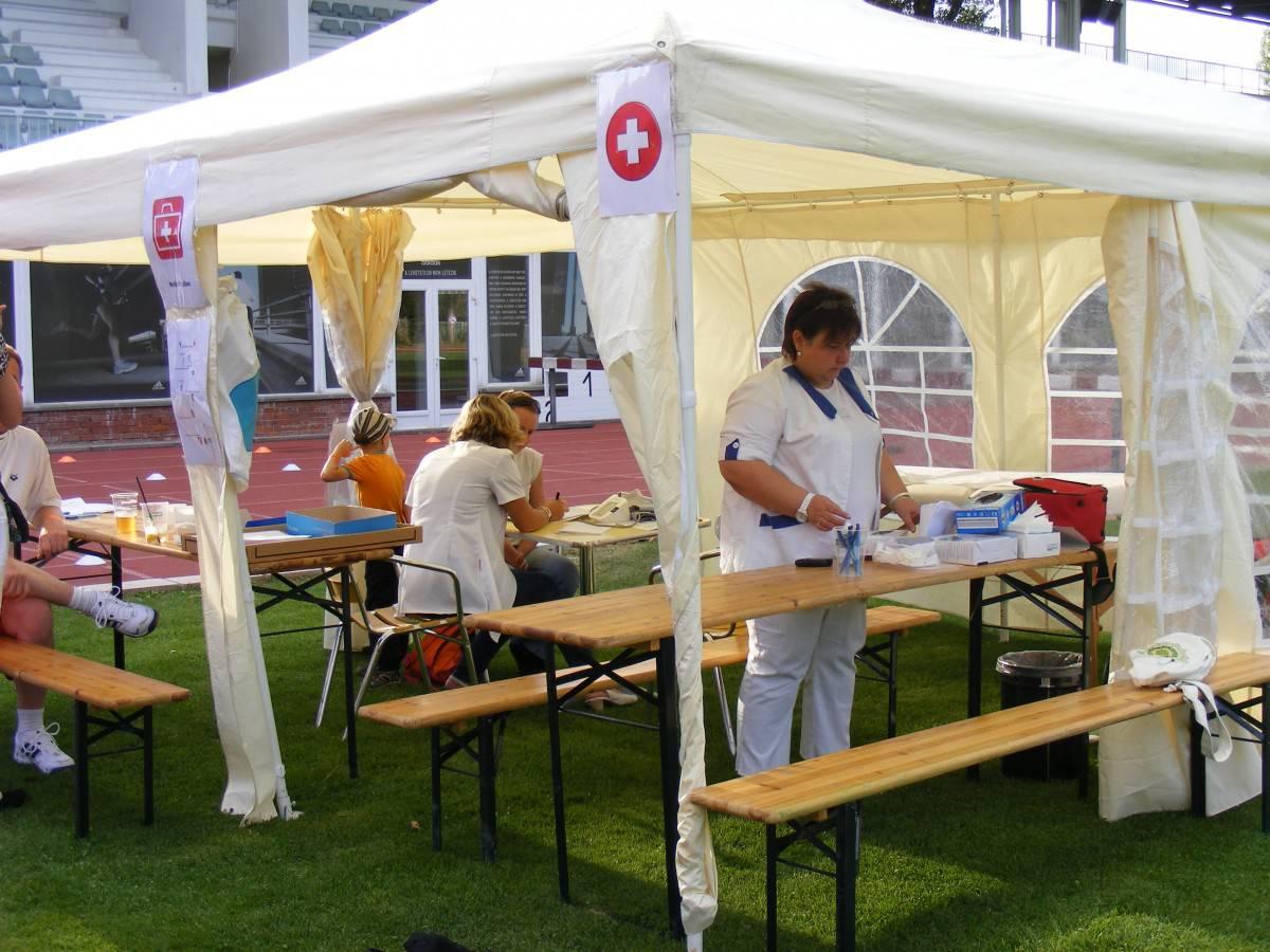 Rendezvény sátrak: egészségsátor